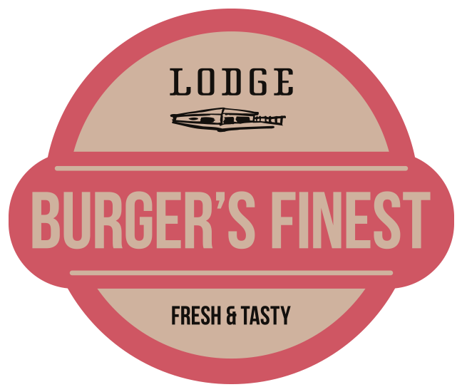 """LODGE"" – Burger's Finest Logo"